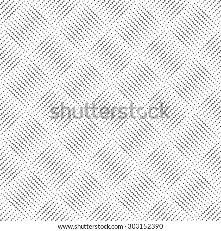 Seamless pattern. Abstract small dotted background. Simple original texture with regularly repeating geometrical shapes, dots, dotted lines, rhombuses. Vector element of graphical design - stock vector