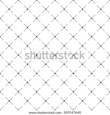 Seamless pattern. Abstract small dotted background. Simple stylish texture with regularly repeating geometrical shapes, crosses, small dots, rhombuses. Vector element of graphic design
