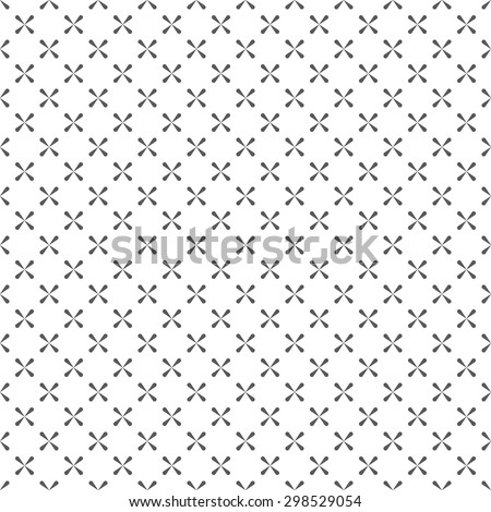 Seamless pattern. Abstract textured background. Simple original texture with regularly repeating geometrical elements, shapes, crosses, rhombuses. Vector element of graphic design - stock vector