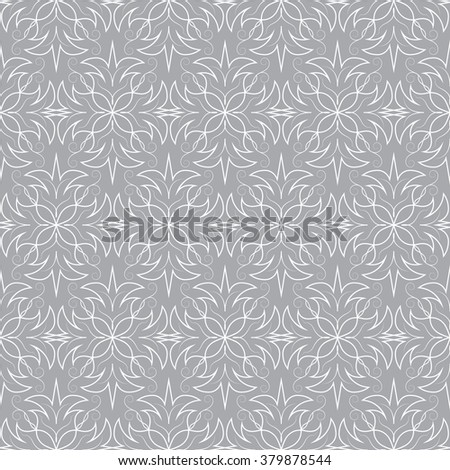 Seamless  pattern. Abstract vector texture. Decorative floral pattern in damask style. Can be used for wallpaper, textiles, design, wrapping paper, web page, background. - stock vector