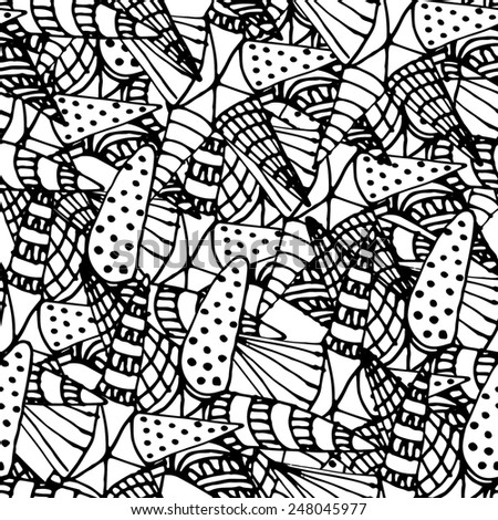 Seamless pattern abstract. White and black 2