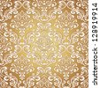 Seamless pattern background.Damask wallpaper. Vector illustration - stock photo