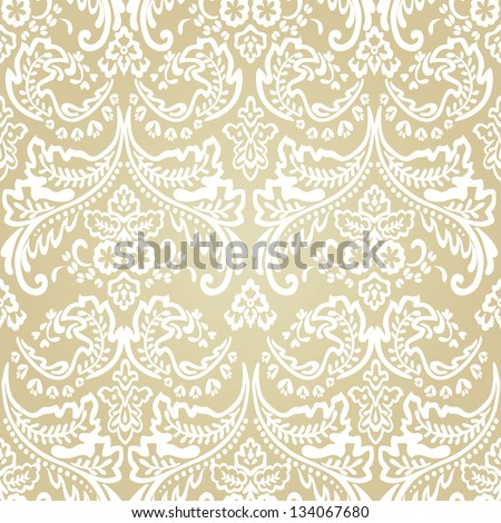 Seamless pattern background.Damask wallpaper. Vector illustration - stock vector