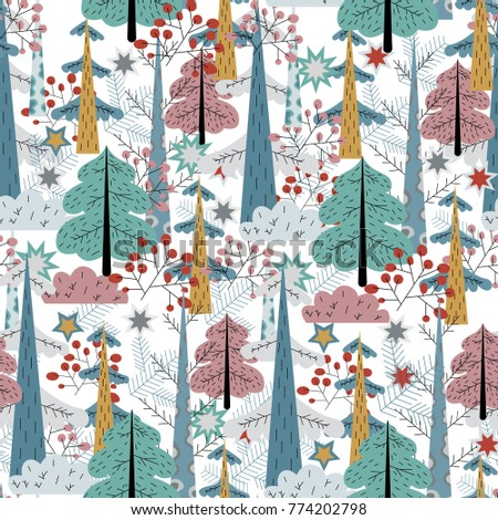 seamless pattern, background, forest