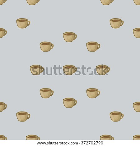 Seamless pattern background with a cup of tea. A cup of tea vector. Cup of tea watercolor. - stock vector
