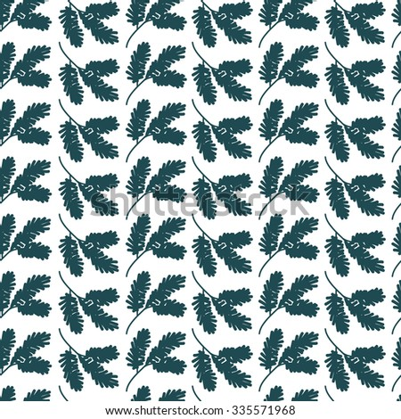 Seamless pattern background with fir branches. Merry Christmas and Happy New Year. Vector illustration.