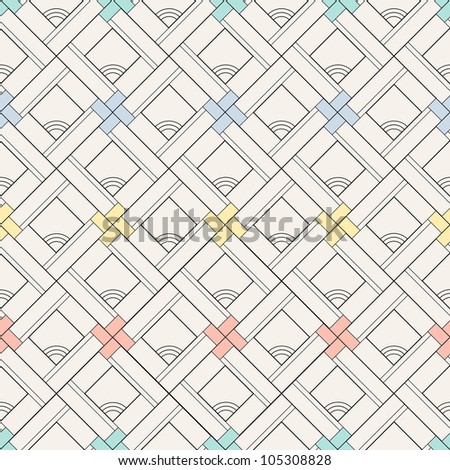 seamless pattern background with graphic ornaments, retro design