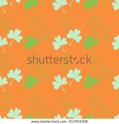 Seamless pattern. Background with green leaves (9)
