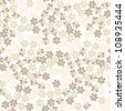 seamless pattern background with white gentle flowers - stock vector
