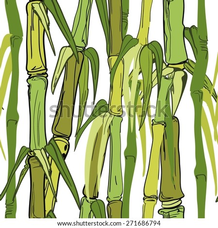 Seamless pattern - bamboo - stock vector