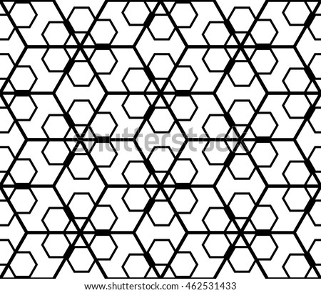 Seamless Pattern Based On Illusory Triangles Stock Vector HD ...