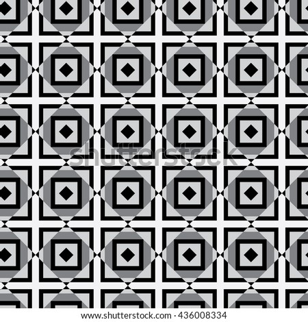 Seamless pattern. black and white abstract illustration. Vector - stock vector