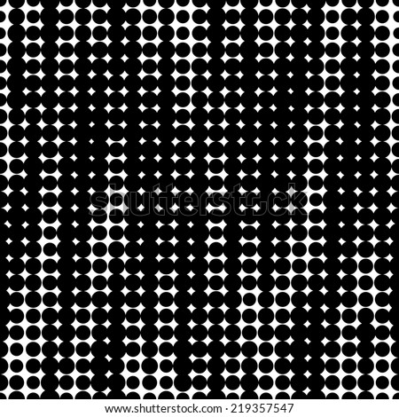 Seamless pattern. Black dots on white background.