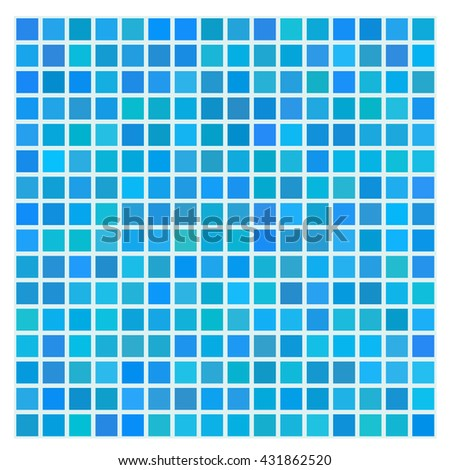 Seamless pattern, Blue mosaic tile for swimming pool or bathroom