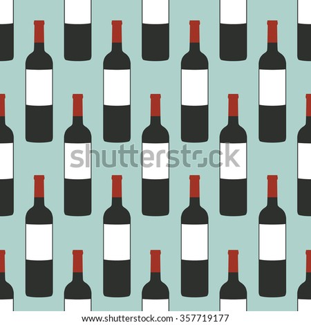 seamless pattern. bottle of wine. vector illustration