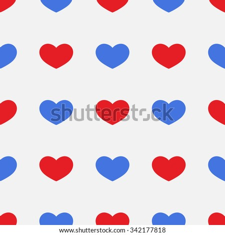 Seamless pattern bright, beautiful, color, heart on abeautiful background. February 14 Valentine's day