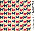 Seamless pattern. Cats and dogs. Can be used for textile, website background, book cover, packaging. - stock photo