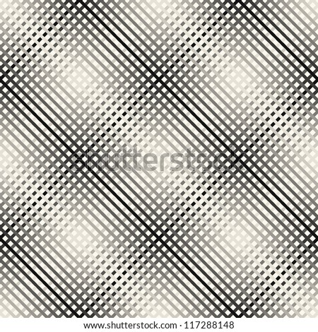 Seamless pattern. Checkered vector texture