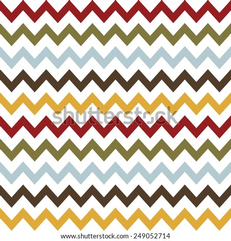 Seamless  pattern.  Chevron pattern: red, blue, yellow, green and brown and white weaves - stock vector