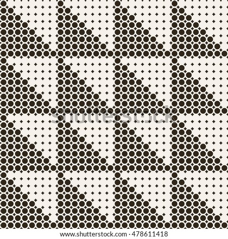 Seamless pattern. Classic abstract geometric background. Infinitely repeating geometrical texture consisting of small rhombuses, dots, dotted grids, triangles. Vector element of graphical design