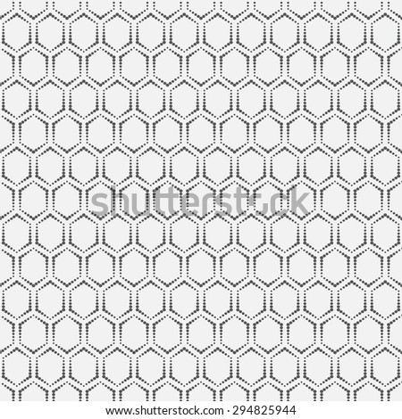 Seamless pattern. Classic geometric texture with repeating dots, hexagons. Monochrome. Backdrop. Web. Vector element of graphic design - stock vector