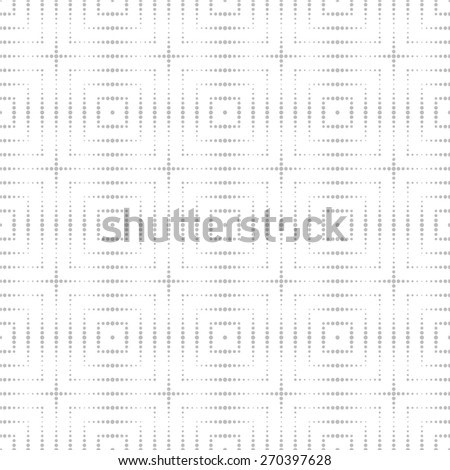 Seamless pattern. Classical geometric texture. Repeating dotted lines, squares. Monochrome. Backdrop. Web. Vector illustration for your design - stock vector