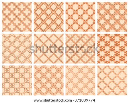 Seamless pattern collection - stock vector