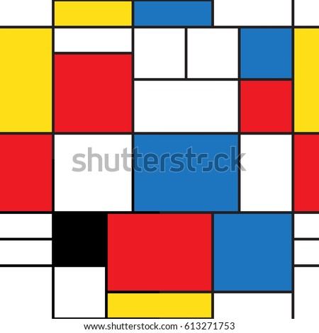 colorful background in mondrian style vector abstract background of colored