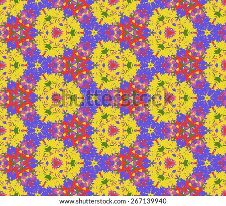 Seamless pattern composed of abstract elements located on white background. Useful as design element for texture, pattern and artistic compositions. Vector illustration. - stock vector
