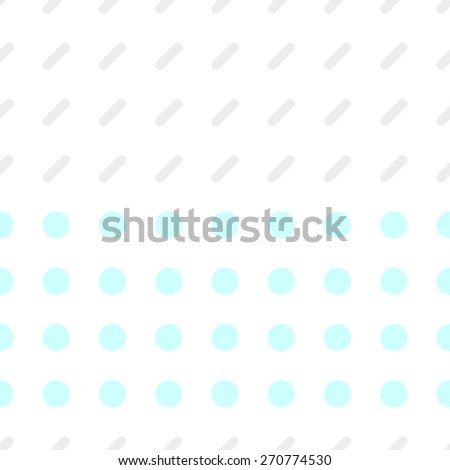 Seamless pattern consisting of a circle and a rectangle with rounded edges on a white background gray and pale blue - stock vector