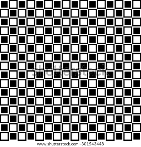 Seamless pattern consisting of squares in white and black.