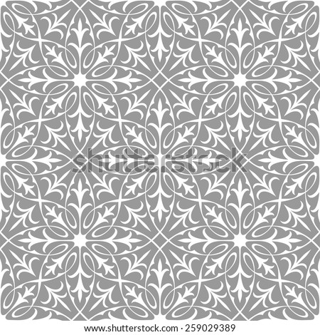 Seamless Pattern Decorative Wallpaper In The Gothic Style Vector Illustration
