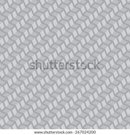 Seamless pattern. Diagonal geometric texture with volume steps. Repeating diamonds and squares. Monochrome. Backdrop. Web. Vector illustration for your design - stock vector