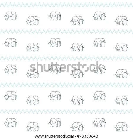 Seamless pattern elephant kids baby boy stock vector 498330643 seamless pattern elephant kids baby boy background wallpaper vector textiles voltagebd Image collections