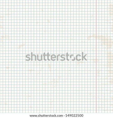 Seamless pattern. Exercise book in a cage. - stock vector