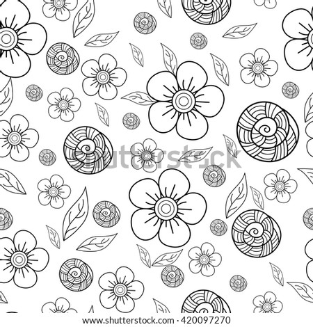 Seamless pattern. Floral decorative elements. Perfect for printing on fabric or paper - stock vector