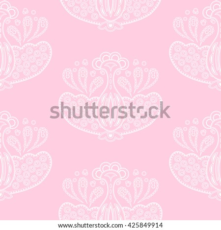 Seamless pattern. Floral design in pastel colors. Can be used for wallpaper, textile, fabric design