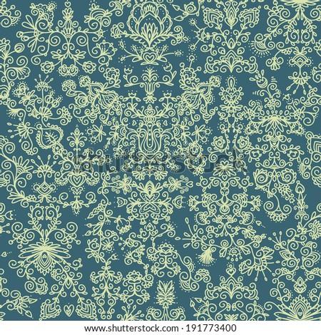 seamless pattern, floral design. Oriental vector illustration. - stock vector