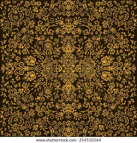 Seamless pattern, floral design, vector. - stock vector