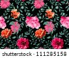 seamless pattern, floral pattern,roses,flowers,dark background - stock vector