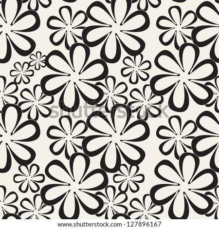 Seamless pattern. Floral stylish background. Vector repeating texture