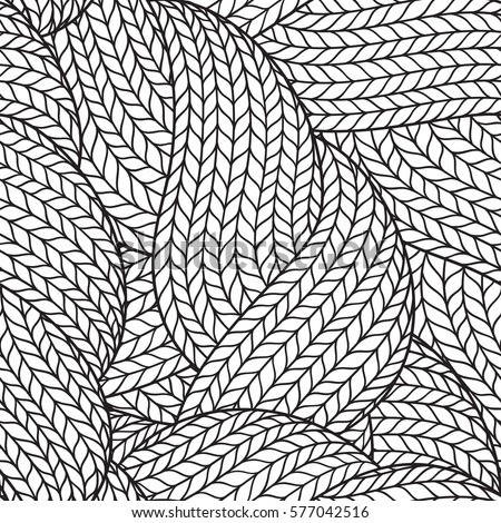seamless pattern coloring book adult abstract stock vector