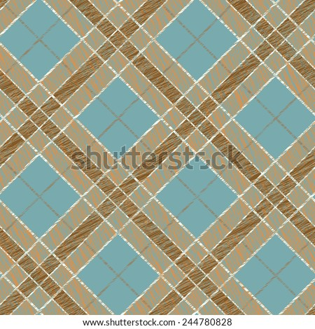 Seamless pattern for wallpaper, web page background, surface textures. Fabric with scratch lines. Surface texture. Grungy tartan. Brush strokes. Pattern fills. Abstract backdrop. Checkered template. - stock vector