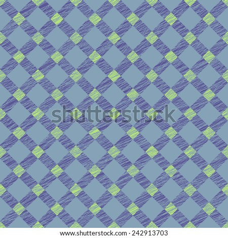 Seamless pattern for wallpaper, web page background, surface textures. Grungy tartan. Brush strokes. Pattern fills. Abstract backdrop. Simple checkered template.