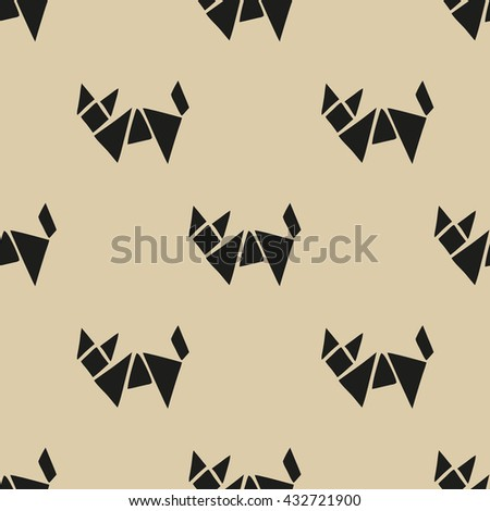 seamless pattern,fox geometric art  background design for fabric and decor