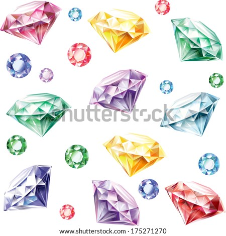 Seamless pattern from diamonds - stock vector