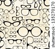 seamless pattern from glasses in vintage style - stock vector
