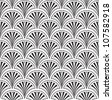 seamless pattern from lines, floral theme - stock vector