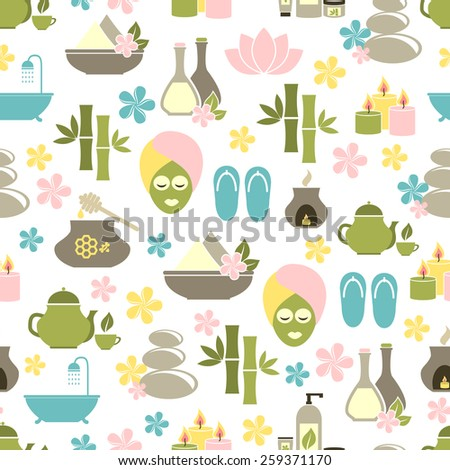 seamless pattern from Spa of elements. vector illustration - stock vector