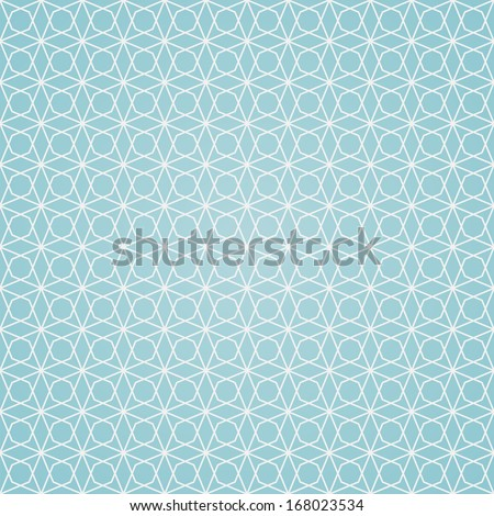 seamless pattern, geometric background in blue and white colors, vector illustration - stock vector